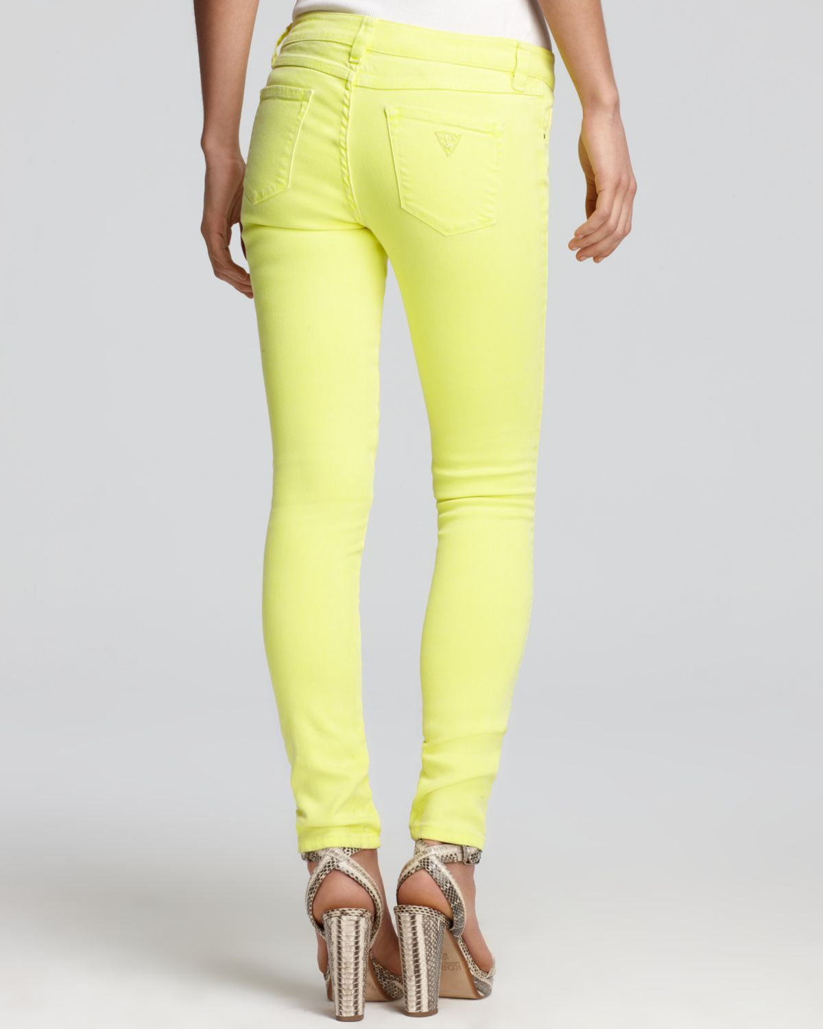 Brittney Ankle Skinny Jeans in Neon Yellow  I live them! Mix and match colors!