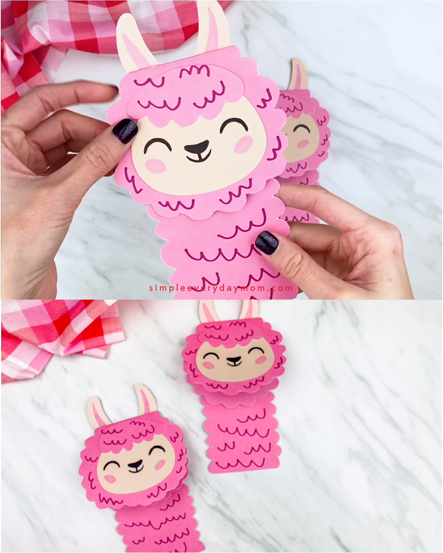 Llama Valentine Card Craft
