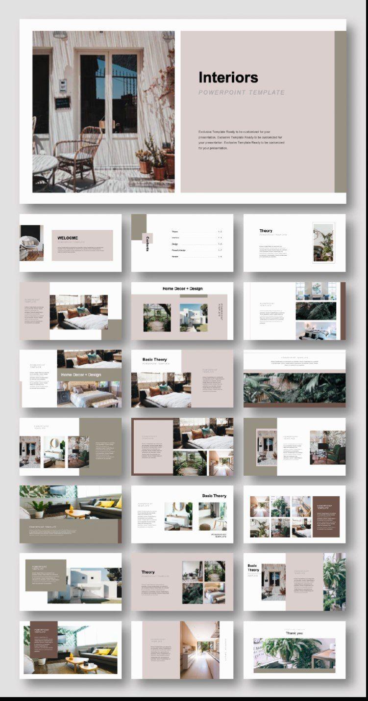 Kreatives Interieur Design Vorlage Original Und Qualitativ Hochwertige Powerpoint Vor In 2020 Portfolio Design Layouts Layout Architecture Architektur Portfolio Layout