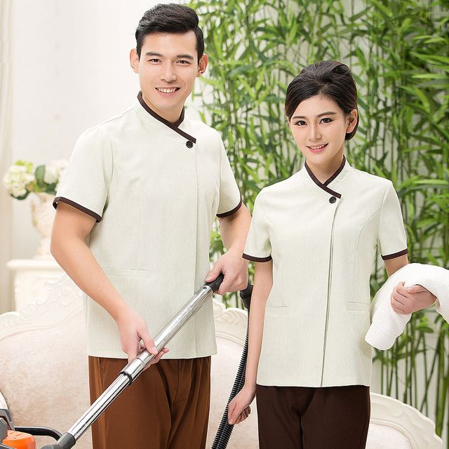 Hotel Housekeeping Services: PA Work Wear Short-sleeve Cleaning Service Summer Hotel