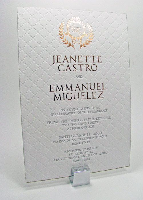 Letterpress Wedding Invitations Luxury Gold And White A Set Of 50 By Luxuryweddinvitation On Etsy