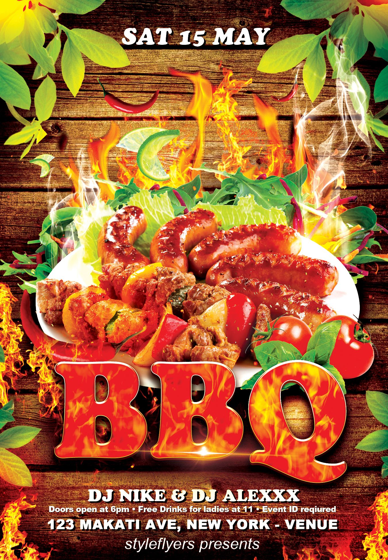 free bbq flyer template styleflyerscom check out this bbq flyer template for
