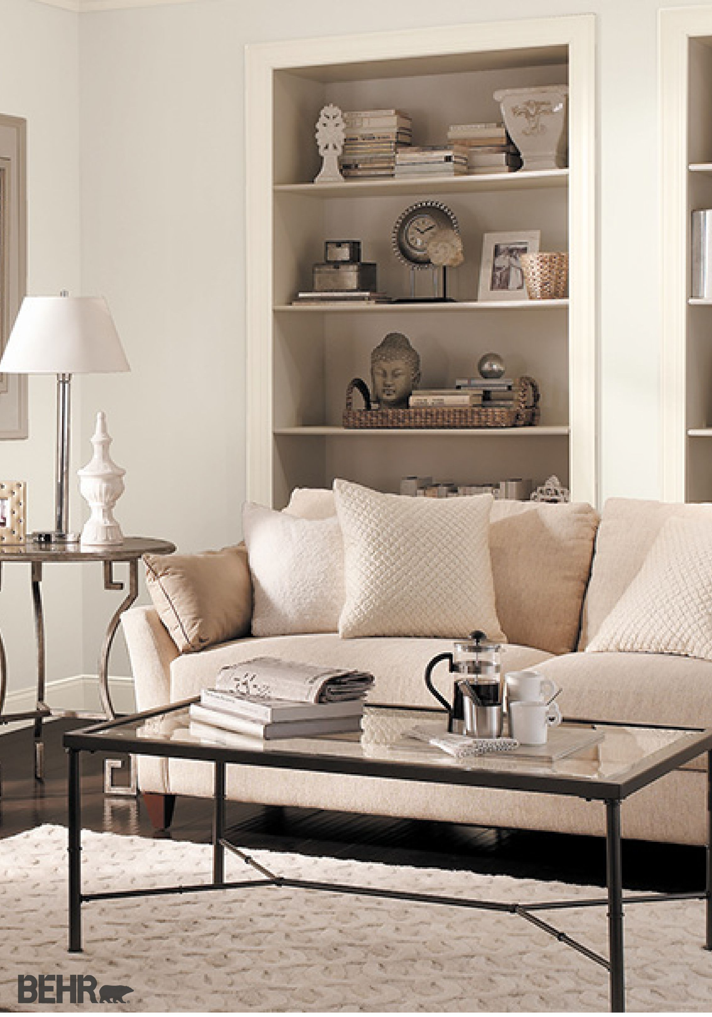 Try A Frosted Color Scheme For Your Living Room By Incorporating Shades Of Gray Into The Decor Finishing Space With Textured Accessories And Unique