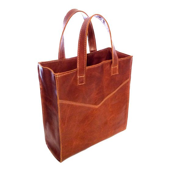 Leather Tote by ChiqueFabrique on Etsy, $84.00