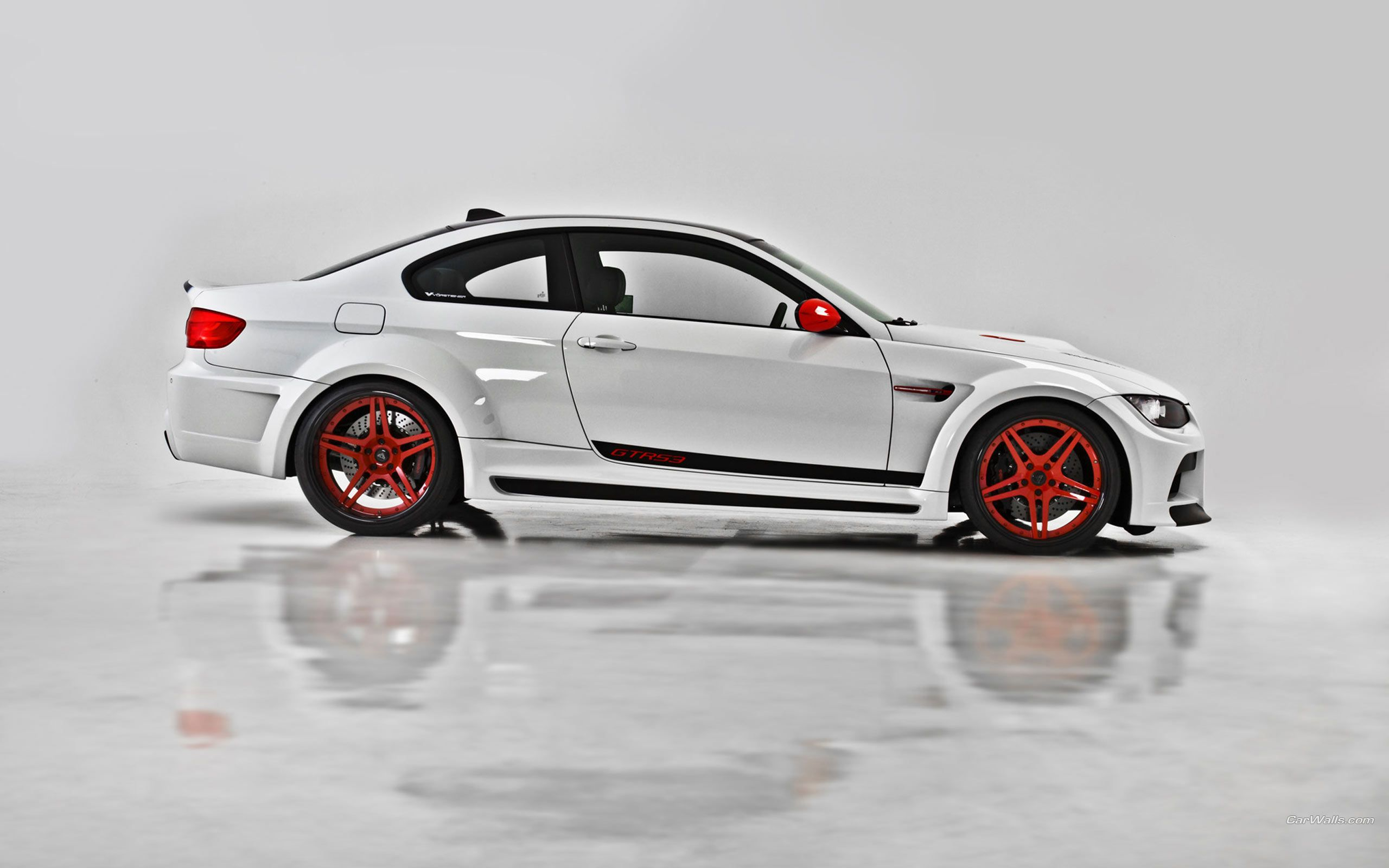 Bmw white with red accents m3