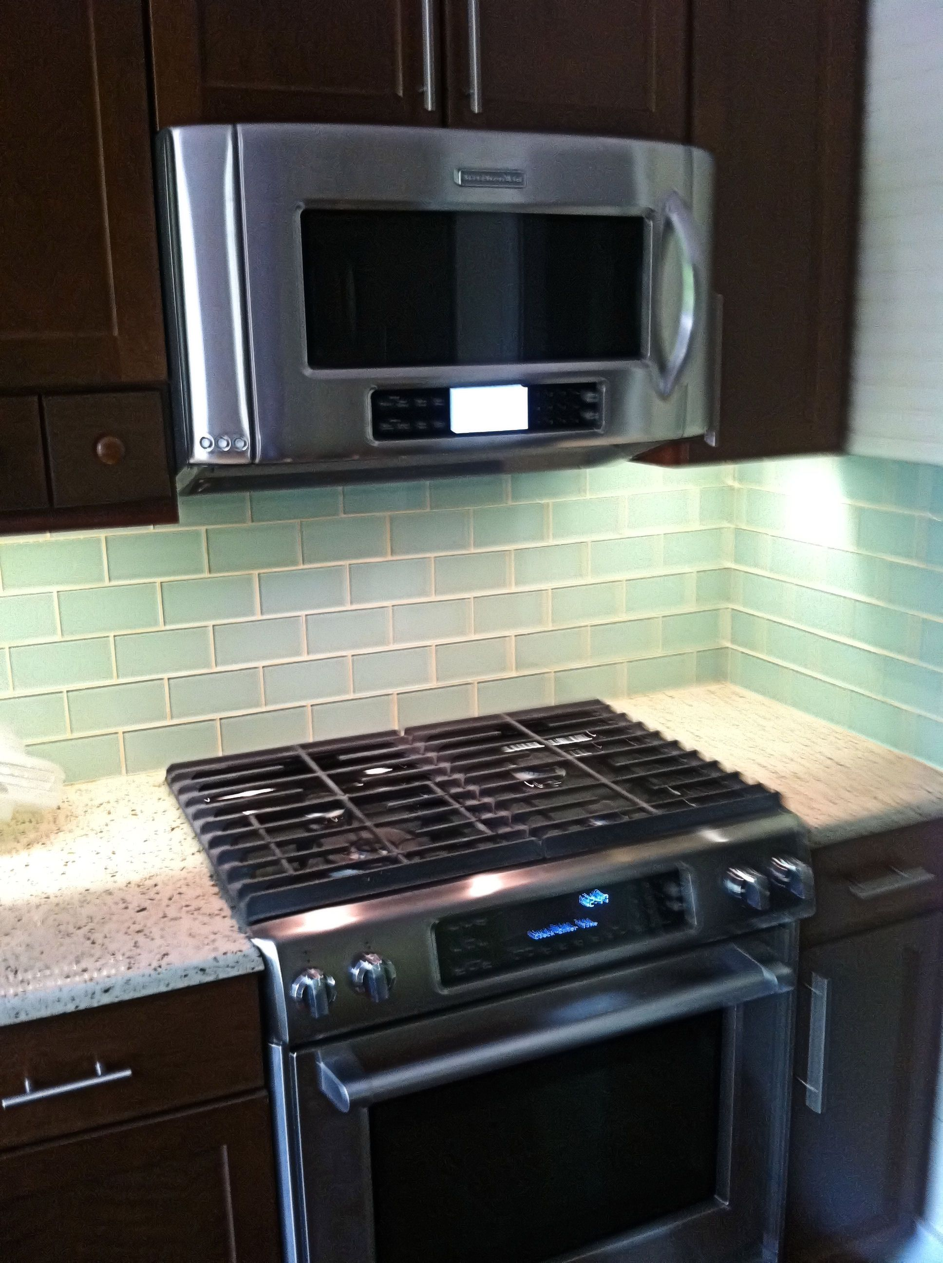- Green Glass Backsplashes For Kitchens Glass Subway Tile