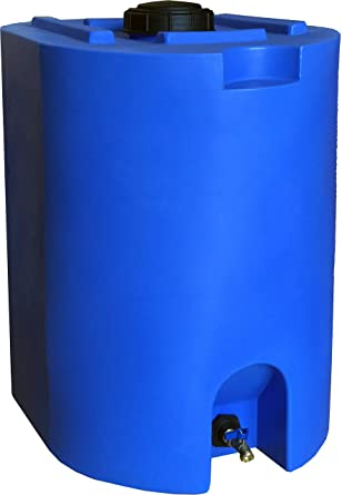 Amazon Com Blue 55 Gallon Water Storage Tank By Waterprepared Emergency Water Barrel Container Wi In 2020 Water Storage Containers Water Storage Water Storage Tanks