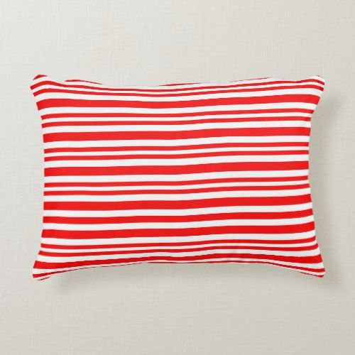 Peppermint Candy Cane Stripe Red White 2020 Easter Accent Pillow   holiday ideas christmas decorations, stampin up christmas decorations, candyland christmas decorations #christmastime #christmasdecoration #christmasornaments