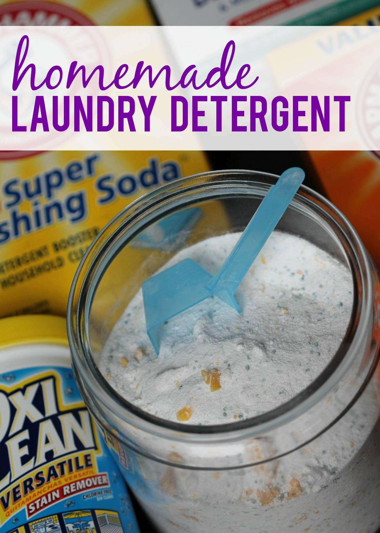 Homemade Laundry Detergent Powder Homemade Laundry Detergent