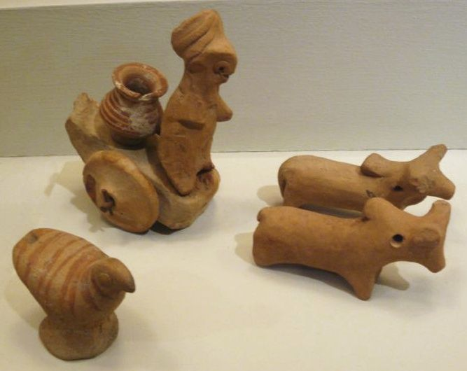 Miniature Votive Images or Toy Models from Harappa, ca. 2500 BCE