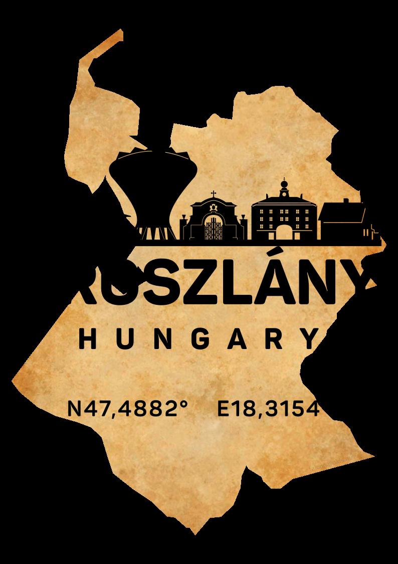 magyarország térkép oroszlány Oroszlány   Magyarország Silhouette SkyLine Art Map. Egy tetszetős  magyarország térkép oroszlány