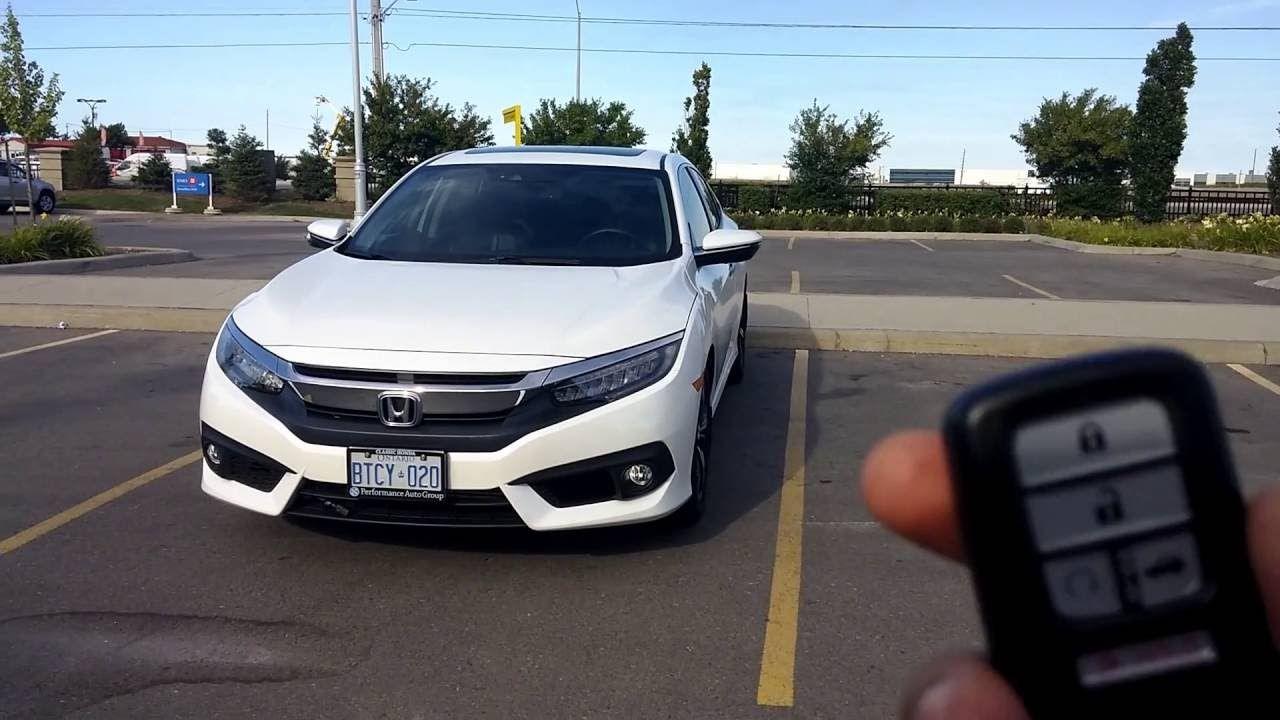 Honda Civic 2016 2017 Key Fob; Tips & Tricks (Features), Honda Accord Sm...