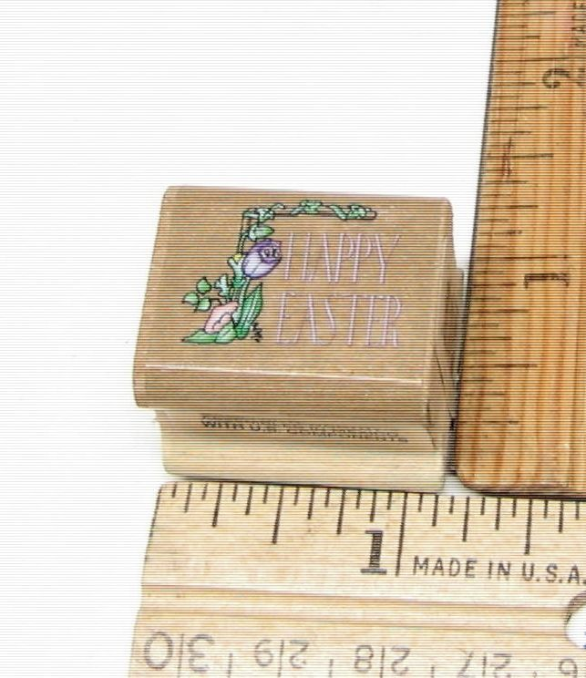HAPPY EASTER FLOWERS VINTAGE BY NOTEWORTHY SMALL RUBBER STAMP #NOTEWORTHY #rubberstamp