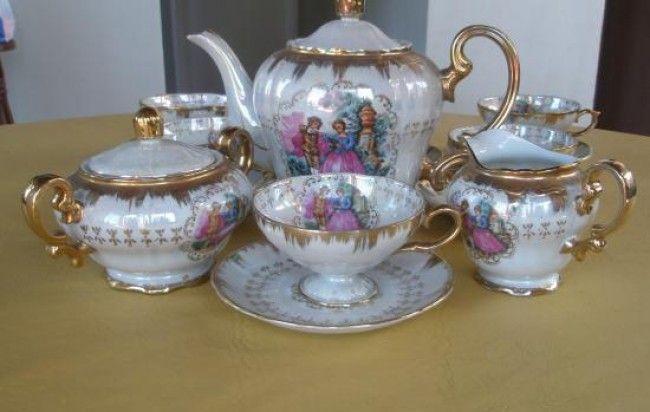 Juego De Te Porcelana Antiguo Porcelana Tea Pots Tea Y Porcelain