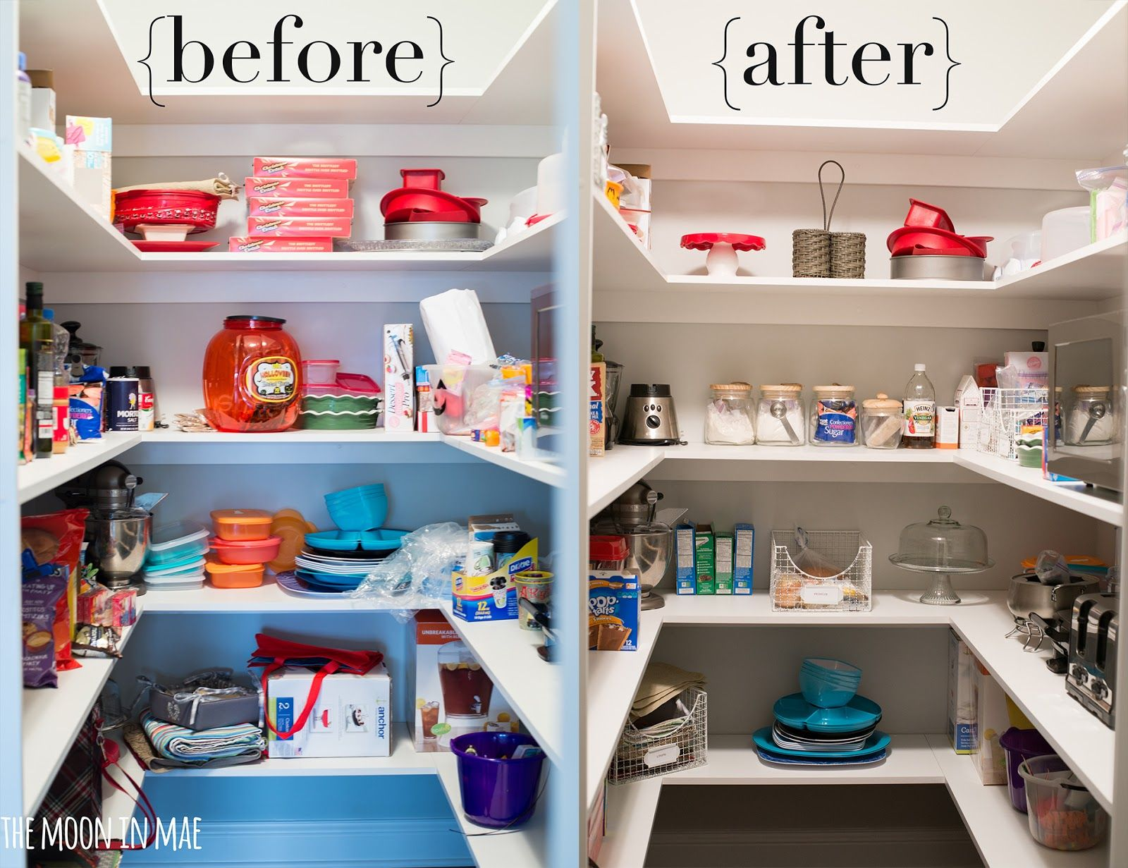 pantry makeover organization pantry makeover pantry makeover on kitchen organization before and after id=92607