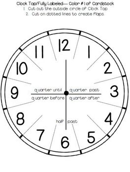 Telling Time: Clock Templates and Foldables (Görüntüler