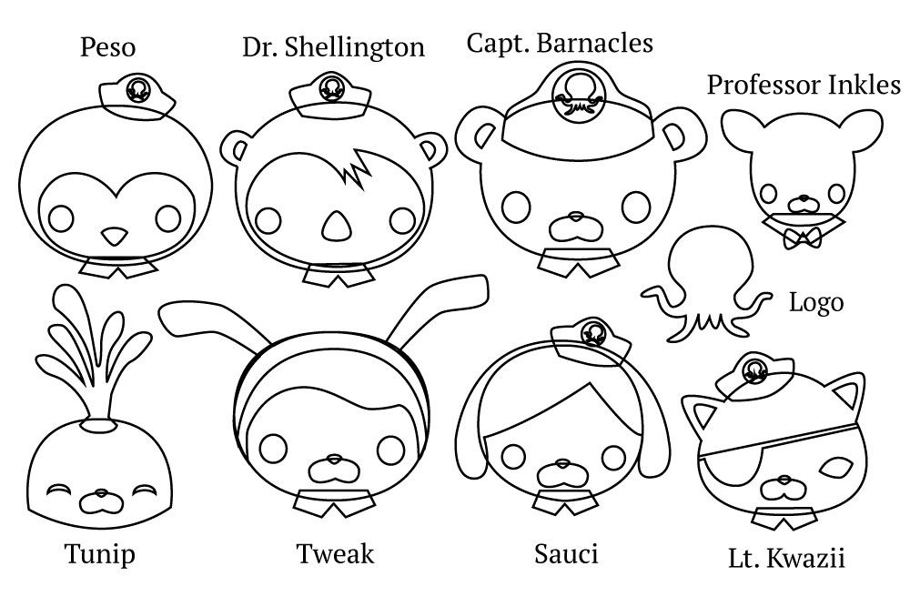 photograph relating to Octonauts Printable named Octonauts Figures Paper Templates Aspects for Issac