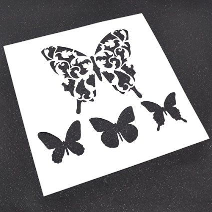 Butterflies Layering Stencils Masking Spray Template For Scrapbooking Painting