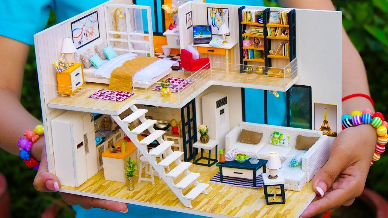 5 Diy Miniature Doll House Rooms Youtube Maison Barbie