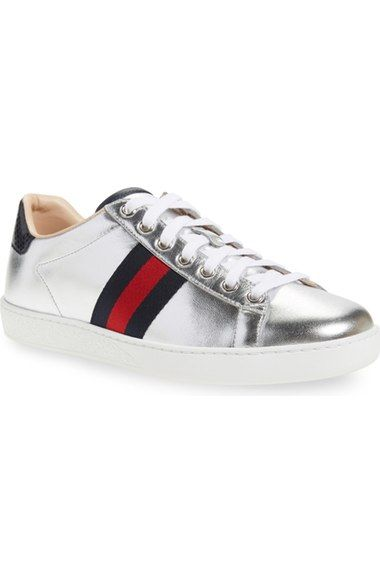 2e4f501d4ab8 GUCCI  New Ace  Metallic Low Top Sneaker (Women).  gucci  shoes ...