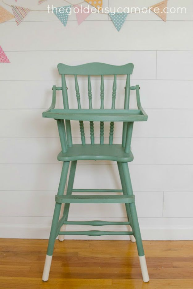 high chair wooden legs club covers canada 20 awesome chalk paint furniture ideas vintage finds painted i love the two toned very cute