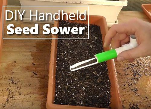 Diy Handheld Seed Sower Tool Sower Seeds Lettuce Seeds