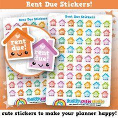 63 Cute Rent Due Planner Stickers Filofax Erin Condren Happy Planner Kawaii Cute Sticker Uk Planner Stickers Etsy Planner Stickers Happy Planner