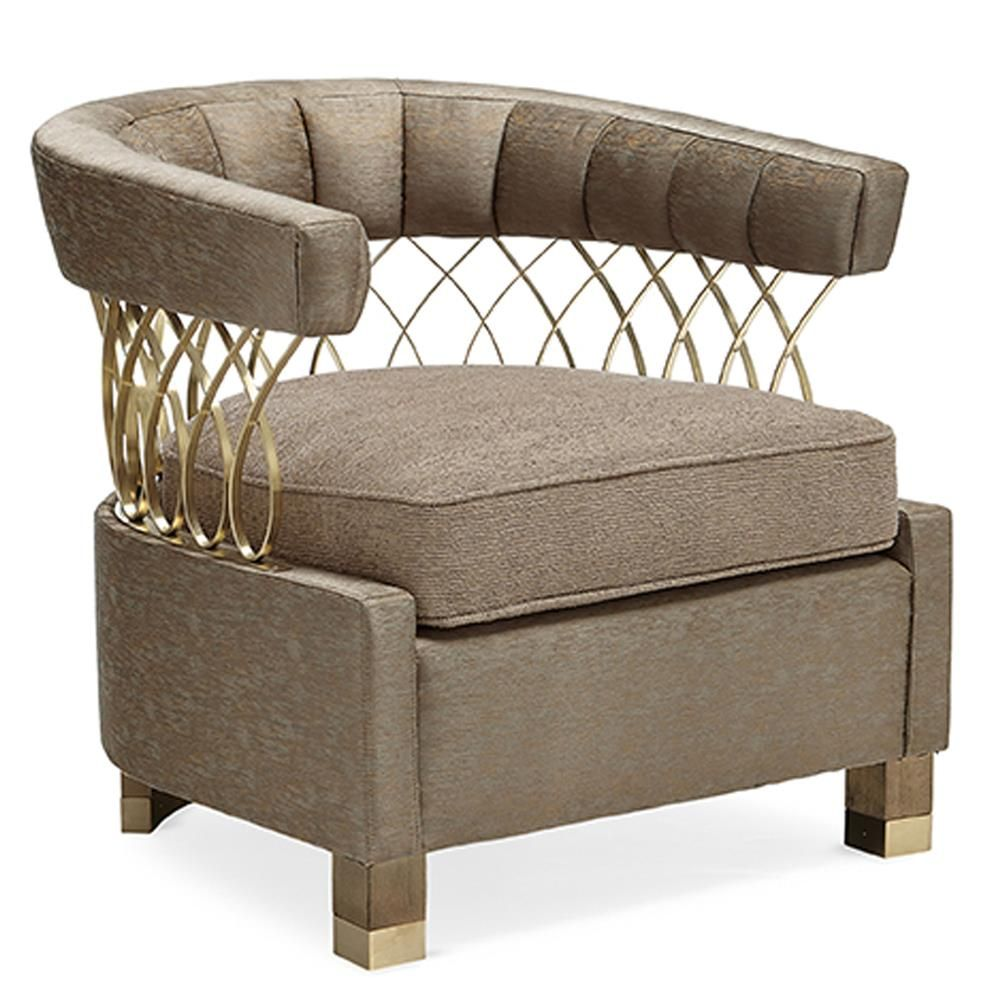 Yen Modern Classic Gold Accent Living Room Tub Chair