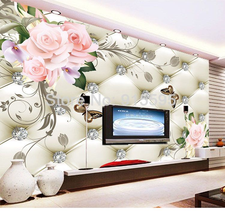 3d Wallpaper Bedroom Mural Roll Modern Luxury Embossed Flowers Background Unbranded Modern
