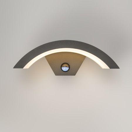 Aplique Sweden Led De Color Gris Oscuro Con Detector Movimiento Color Gris Oscuro Led Lampara De Pared
