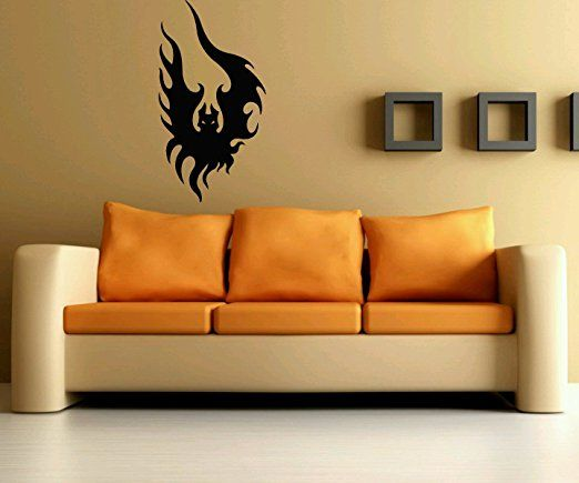 Wall Vinyl Sticker Decals Mural Room Design Pattern Bats Wings Animal Bo166
