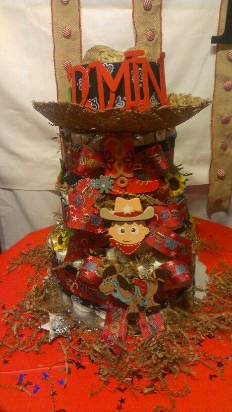 Western diaper cake for a boy