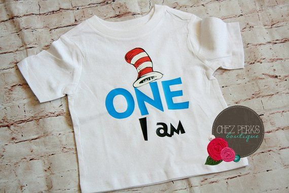 d010d713 Cat in the Hat 1st Birthday Outfit, Dr Seuss Birthday Shirt, Boy Cake Smash  Bodysuit, Dr Seuss Party