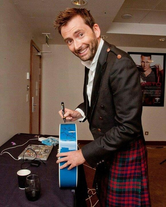 Here Is David Tennant In A Kilt In Case You Were Having A Bad Day