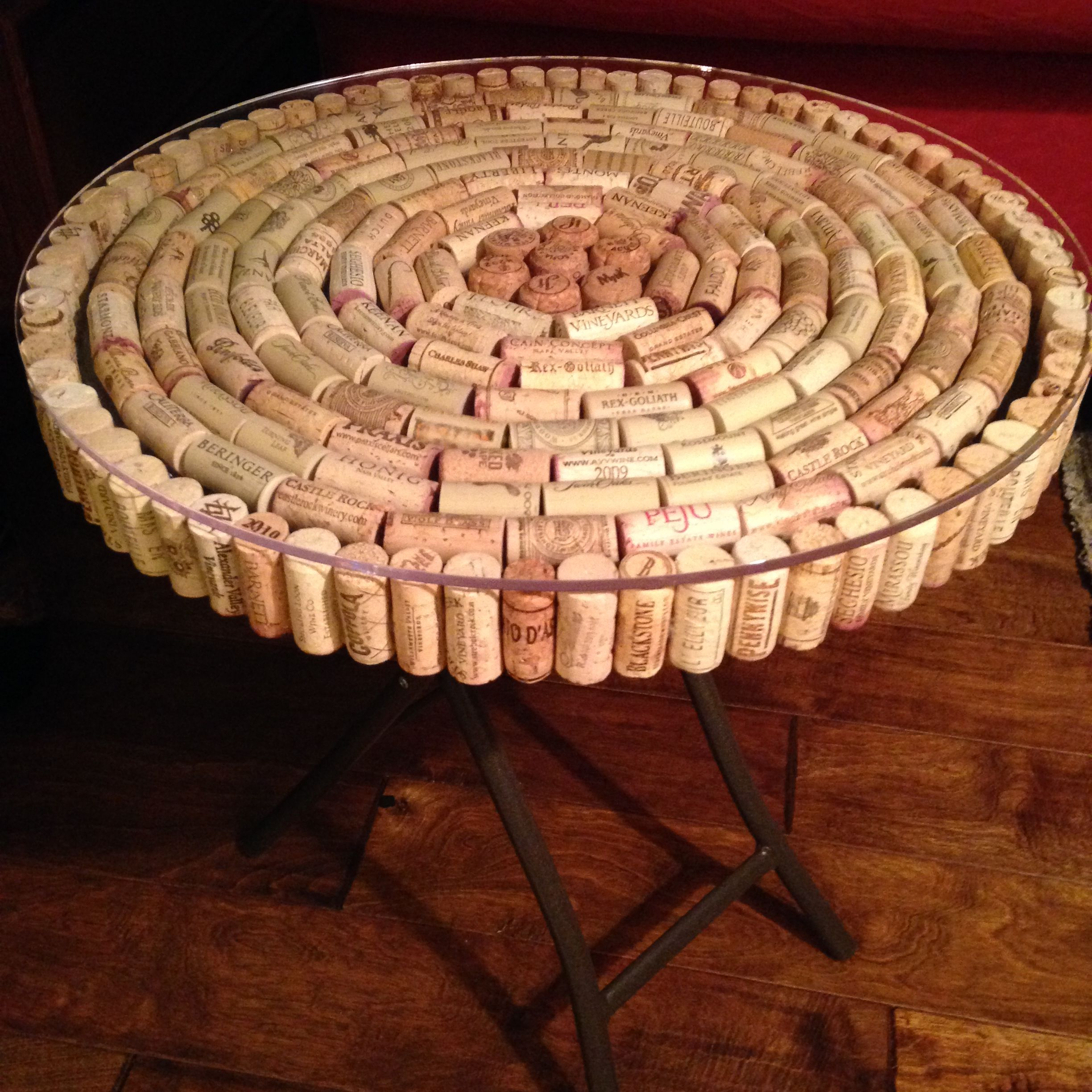 Wine Cork Table Design: With The Help Of Many Volunteers Who Sampled The Wine, I