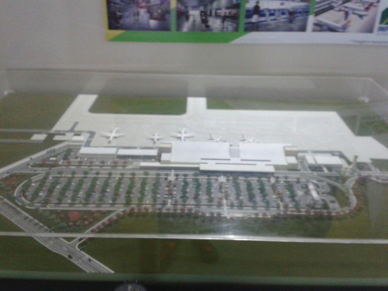 Maquete do aeroporto de Macapá