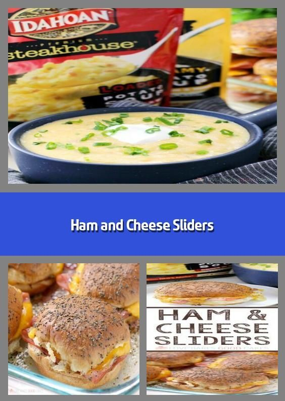 Ham and Cheese Sliders -    Thank you, Idahoan Steakhouse Soups for sponsoring t... - #Cheese #Ham #Idahoan #sliders #Soups #sponsoring #Steakhouse