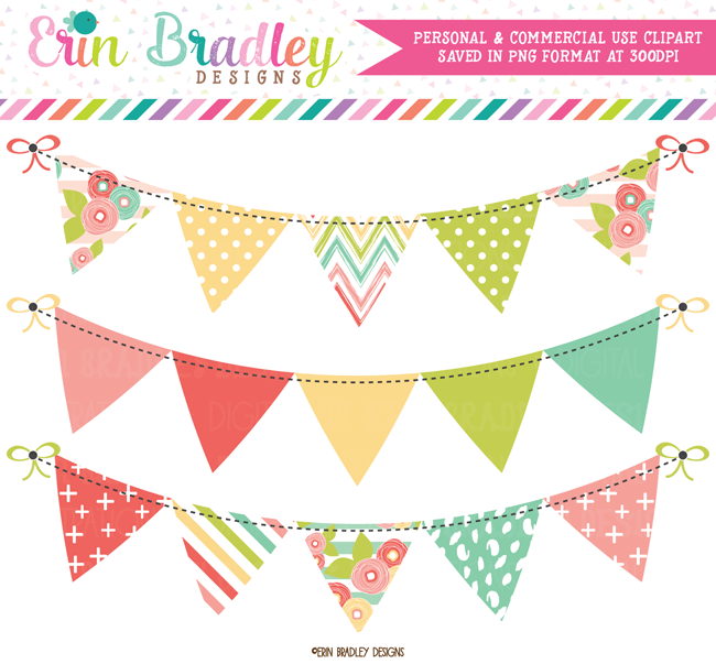 Muted Brights Bunting Banner Flag Clipart Clip Art Bunting Banner Banner