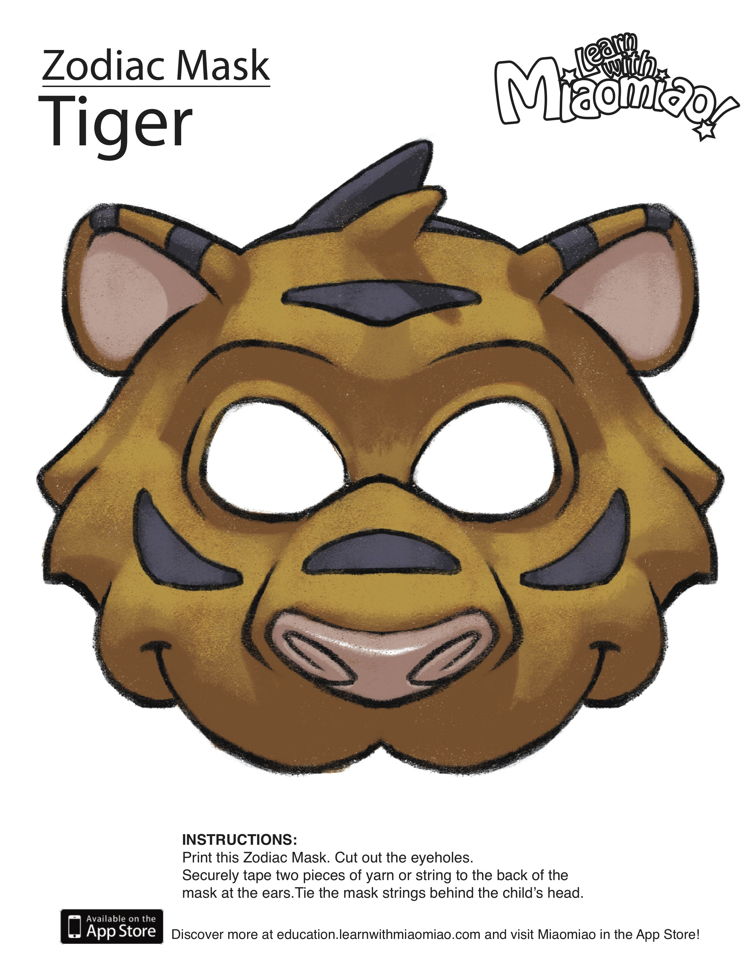 Zodiac Year Of The Tiger Mask Learn With Miaomiao Chinese New