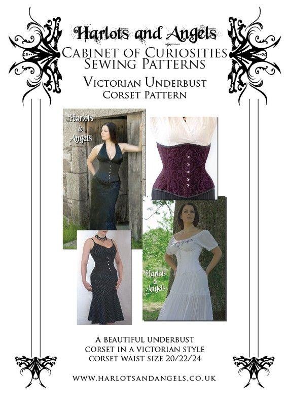 272f363b4f Victorian Underbust Corset Sewing Pattern by Harlotsandangels ...