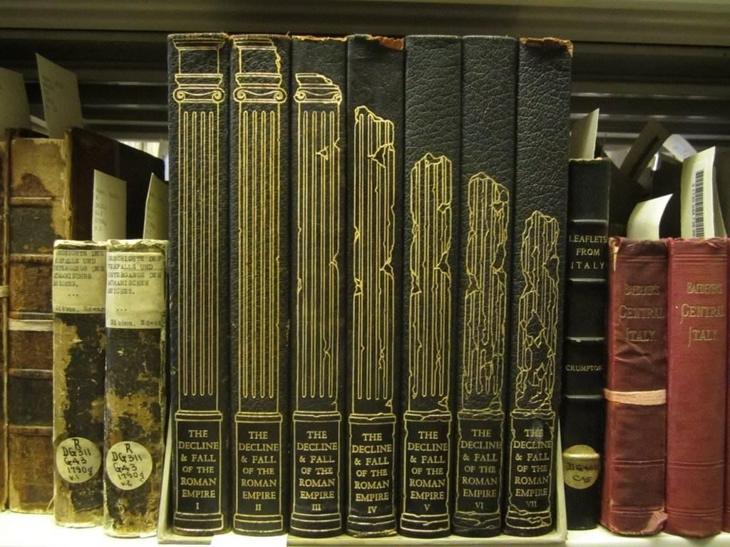 The spines of these history books Book spine design
