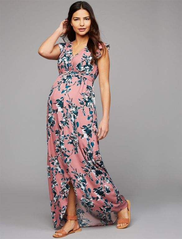 Zwangerschapskleding Lange Rok.Splendid Faux Wrap Maternity Dress Ad Pregnancy Tips Fashion