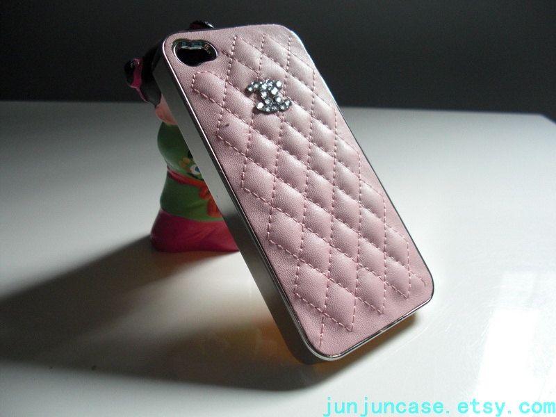 handmade iPhone 4 4s 5 case cell phone case custom iPhone htc Samsung case  cover swarovski crystal cc logo black pinke white blue red.  19.00 390dacd5d68e