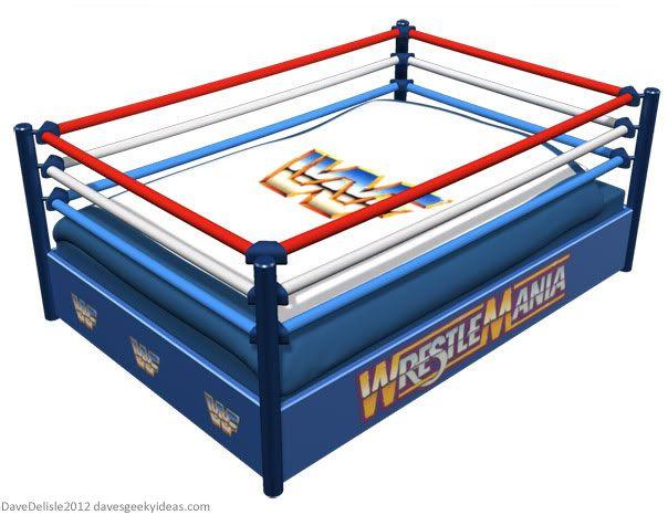 Wwe wwf wrestling ring bed mason 39 s room ideas - Westling muebles ...