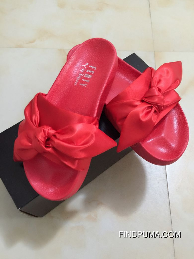 fdeb26fecf7315 Puma X Fenty Bow Slides ButterFly Red Women Sandals Lastest