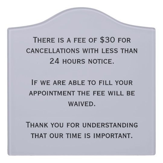 Ourtime cancellation