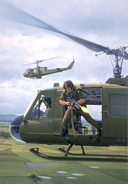Vietnam Door Gunner, GI Joe illustration by Larry Selman ...