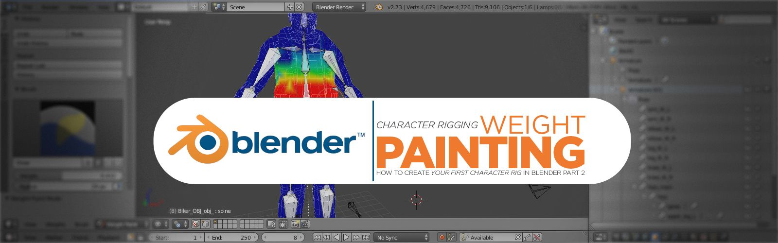 Follow along with us in Part 2 of this rigging a character series and learn about weight painting in Blender!
