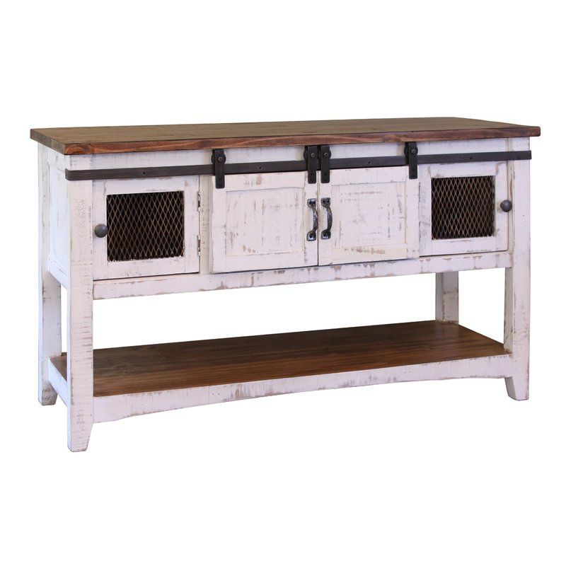 Coralie 2 Sliding Door Console Table White Sofa Table Rustic Sofa Tables Rustic Sofa