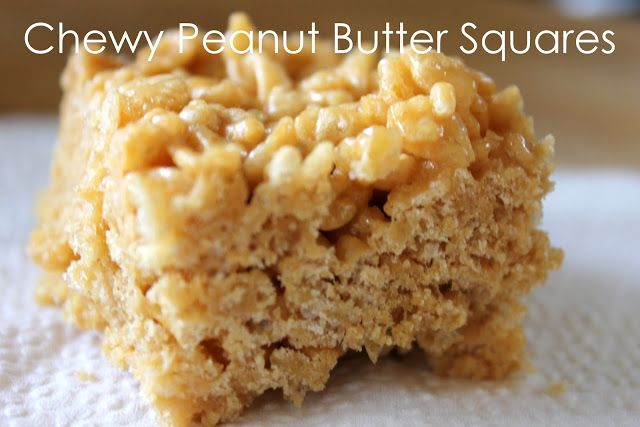 Stuff and Nonsense: Chewy Peanut Butter Squares